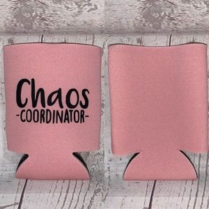 Other - 5 for $25 Chaos coordinator pink koozie new